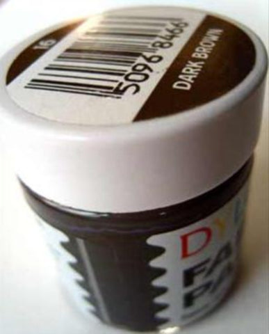 FABPAINTDRKBWN Dark Brown Dylon Fabric Paint 25ml Bottle - Ribbonmoon