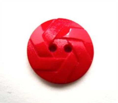 B12864 15mm Red Matt  and Gloss 2 Hole Button - Ribbonmoon