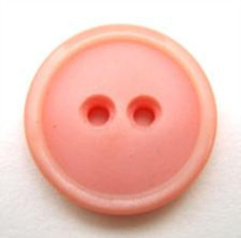 B10695 19mm Rose Pink Soft Sheen 2 Hole Button - Ribbonmoon