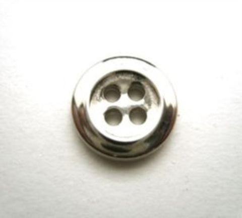 B13962 14mm Silver Metal Alloy 4 Hole Button - Ribbonmoon