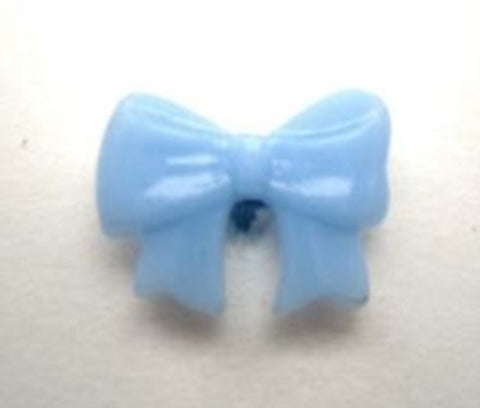 B16852 16mm Baby Blue Bow Shaped Novelty Shank Button - Ribbonmoon