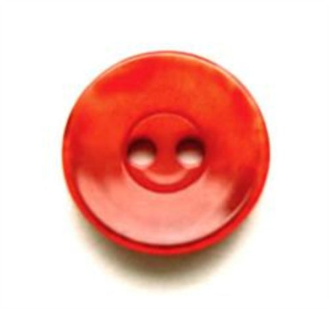 B7951 16mm Tonal Rust Red Shimmery 2 Hole Button - Ribbonmoon