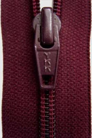 Z3878 YKK 15cm Maroon Nylon No.5 Closed End Zip