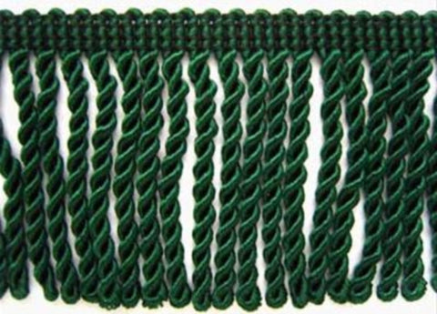 FT2033 6cm Forest Green Bullion Fringe - Ribbonmoon