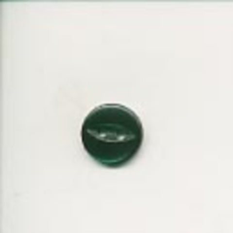 B8507 11mm Forest Green 2 Hole Polyester Fish Eye Button - Ribbonmoon