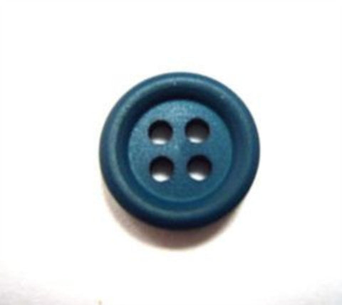B15763 13mm Deep Jade Green Matt 4 Hole Button - Ribbonmoon