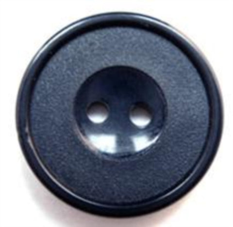 B16257 23mm Midnight Navy Matt and Gloss 2 Hole Button - Ribbonmoon