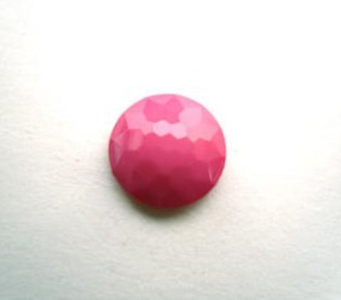 B14102 11mm Hot Pink Domed Honeycomb Shank Button - Ribbonmoon