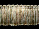 FT1427 44mm Ivory, Peach and Dusky Khaki Cut Ruched Fringing - Ribbonmoon