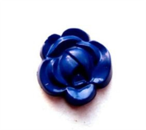 B7832 16mm Royal Blue Rose Design Shank Button - Ribbonmoon