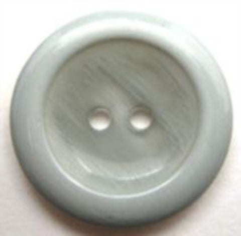 B11748 23mm Dusky Grey Sky Blue Gloss 2 Hole Button - Ribbonmoon
