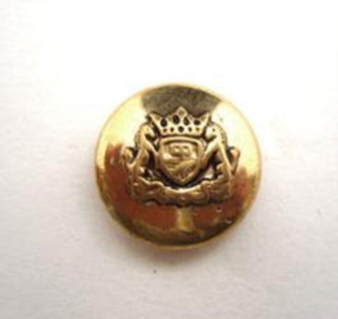 B14492 15mm Gilded Gold Poly Shank Button, Coat of Arms Design - Ribbonmoon