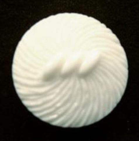 B12977 20mm White Textured Shank Button