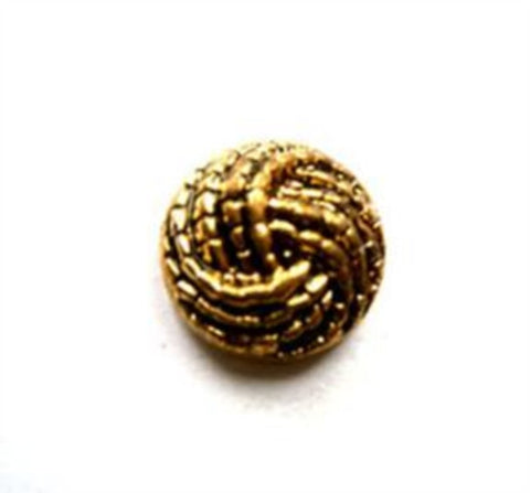B10011 13mm Metallic Antique Gold Gilded Poly Shank Button - Ribbonmoon