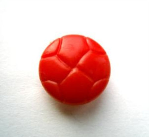 "B12429 15mm Flame Orange Leather Effect ""Football"" Shank Button - Ribbonmoon"