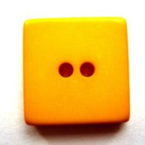 B7292 18mm Sunshine Yellow Gloss Square Shape 2 Hole Button - Ribbonmoon