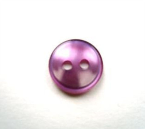 B17745 11mm Pale Purple Polyester Shirt Type 2 Hole Button - Ribbonmoon