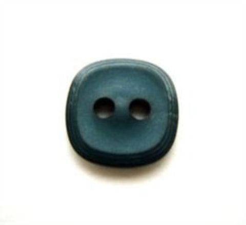 B10150 13mm Teal Matt 2 Hole Button - Ribbonmoon