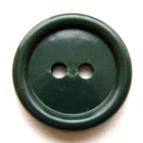 B9426 19mm Forest Green Glossy 2 Hole Button - Ribbonmoon