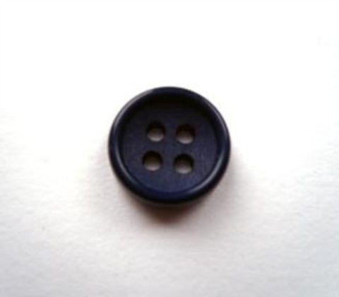 B17837 11mm Ink Navy Matt Centre 4 Hole Button - Ribbonmoon