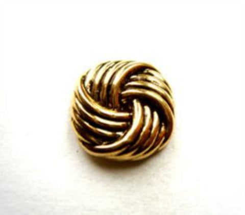 B9961 14mm Gold and Black Gilded Poly Knot Shank Button - Ribbonmoon
