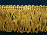 FT381 38mm Old Gold Looped Dress Fringe - Ribbonmoon