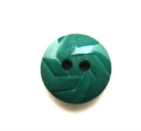 B13398 15mm Hunter Jade Green Matt and Gloss Textured 2 Hole Button - Ribbonmoon