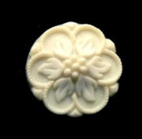 B12965 18mm Ivory Textured Shank Button - Ribbonmoon