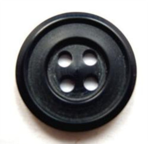 B15990 20mm Navy Dull Sheen 4 Hole Button - Ribbonmoon
