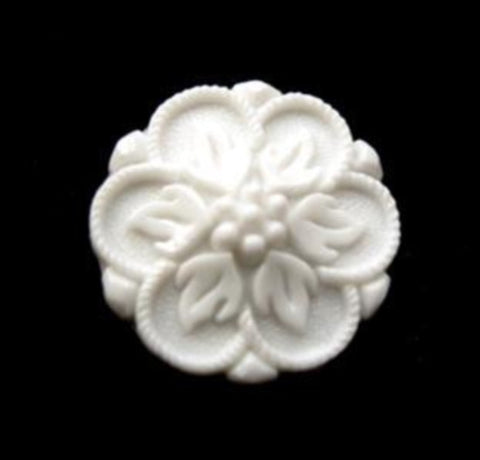 B12971 18mm White Textured Shank Button - Ribbonmoon