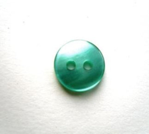 B17390 11mm Pale Jade Green Polyester Shirt Type 2 Hole Button - Ribbonmoon