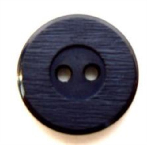 B7775 18mm Navy Lightly Textured Matt Centre 2 Hole Button - Ribbonmoon