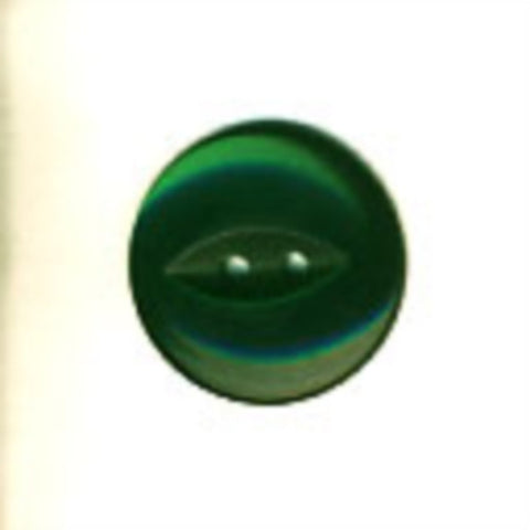 B16969 23mm Forest Green Polyester Fish Eye 2 Hole Button - Ribbonmoon