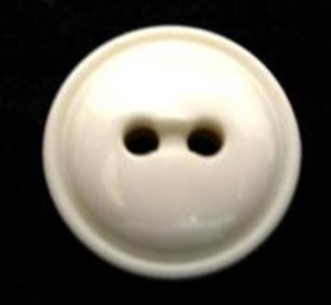 B6233 18mm Natural White Domed High Gloss 2 Hole Button - Ribbonmoon