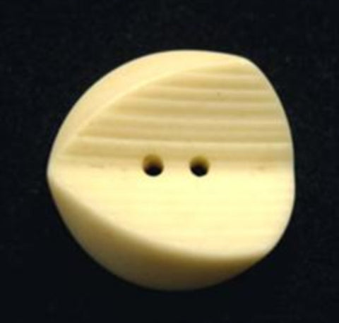 B15951 19mm Antique Cream Bone Sheen Very Chunky 2 Hole Button - Ribbonmoon
