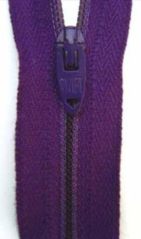 Z0209 51cm Deep Purple Nylon No.3 Closed End Zip - Ribbonmoon