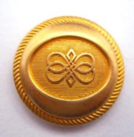 B14604 22mm Deep Gold Metal Alloy Shank Button - Ribbonmoon