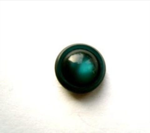 B12519 11mm Jade Green Polyester Domed Shank Button - Ribbonmoon
