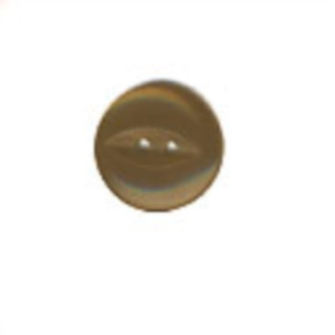 B17029 16mm Misty Brown 2 Hole Polyester Fish Eye Button - Ribbonmoon