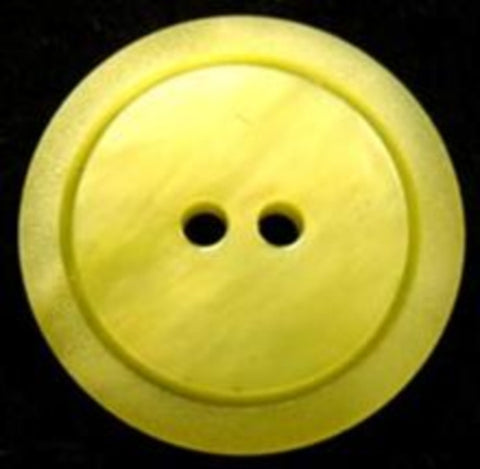 B17071 23mm Tonal Sunny Lime Matt Rim 2 Hole Button - Ribbonmoon