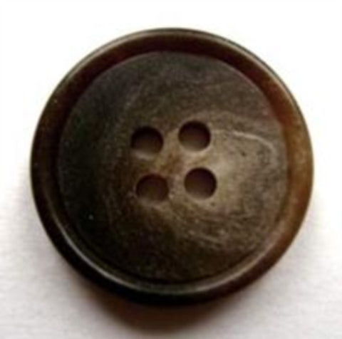 B16678 20mm Browns and Beige Soft Sheen 4 Hole Button - Ribbonmoon