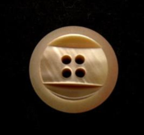 B9935 17mm Fawn 4 Hole Button, Pearlised Surface with an Iridescence