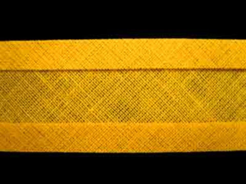 BB121 25mm Gold Yellow 100% Cotton Bias Binding Tape - Ribbonmoon