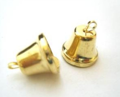 BELL07 14mm Gold Metal  Bell - Ribbonmoon