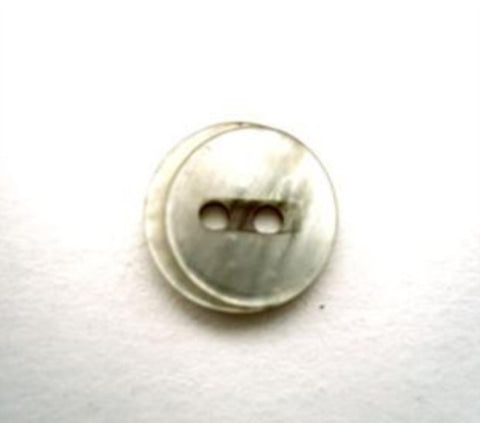 B13506 12mm Tonal Beige 2 Hole Button with a Vivid Shimmer - Ribbonmoon