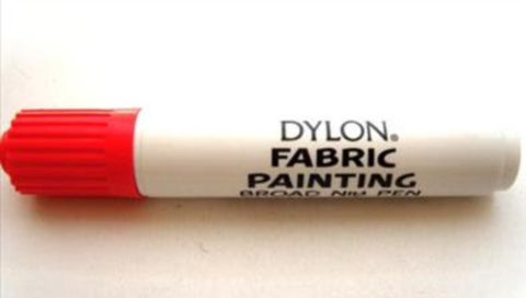 DYLONPENRED Red Broad Nib Fabric Pen by Dylon - Ribbonmoon