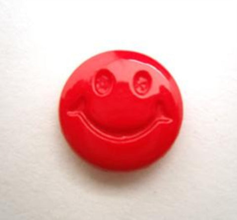 B15530 15mm Red Smiley Face Design Novelty Shank Button - Ribbonmoon