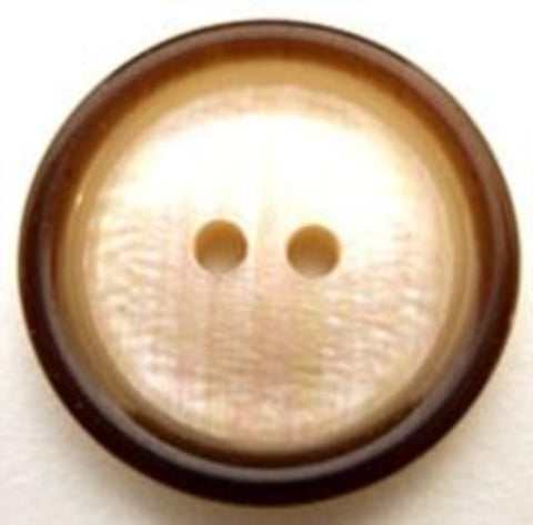 B10895 23mm Pearlised Cream Centre, Subtle Iridescence 2 Hole Button - Ribbonmoon