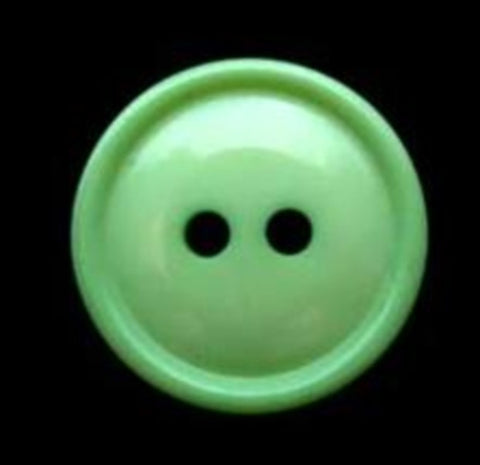 B2275 16mm Deep Mint Green High Gloss 2 Hole Button - Ribbonmoon