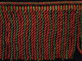 FT1627 145mm Brown,Cypress Green and Forest Green Bullion Fringe - Ribbonmoon